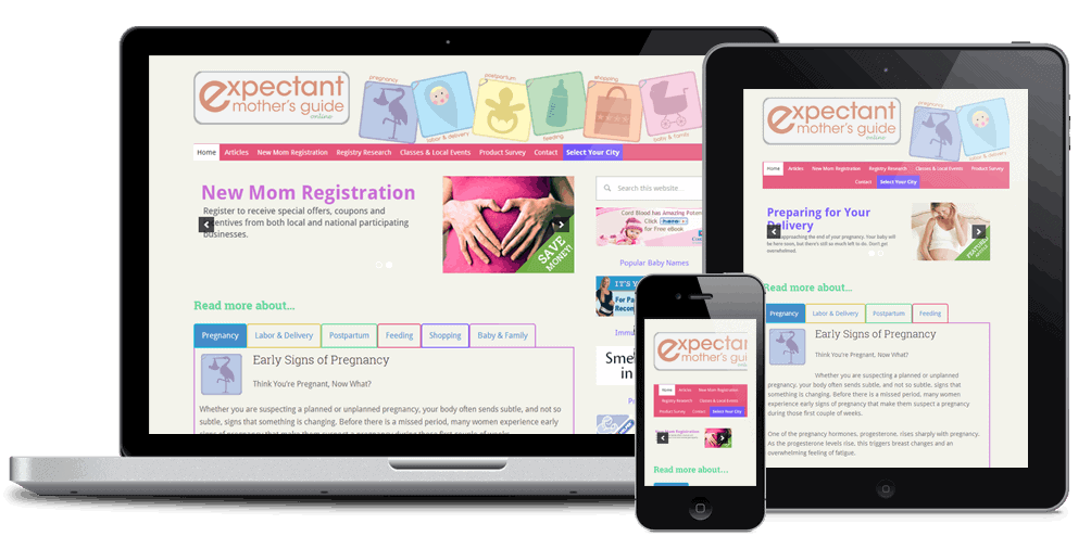 Expectant Mothers Guide Custom Genesis Child Theme