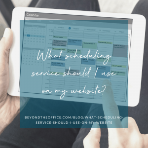 What scheduling service should I use on my website?