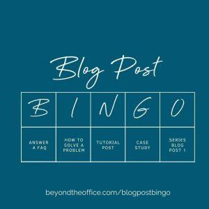 Blog Post Bingo Sample